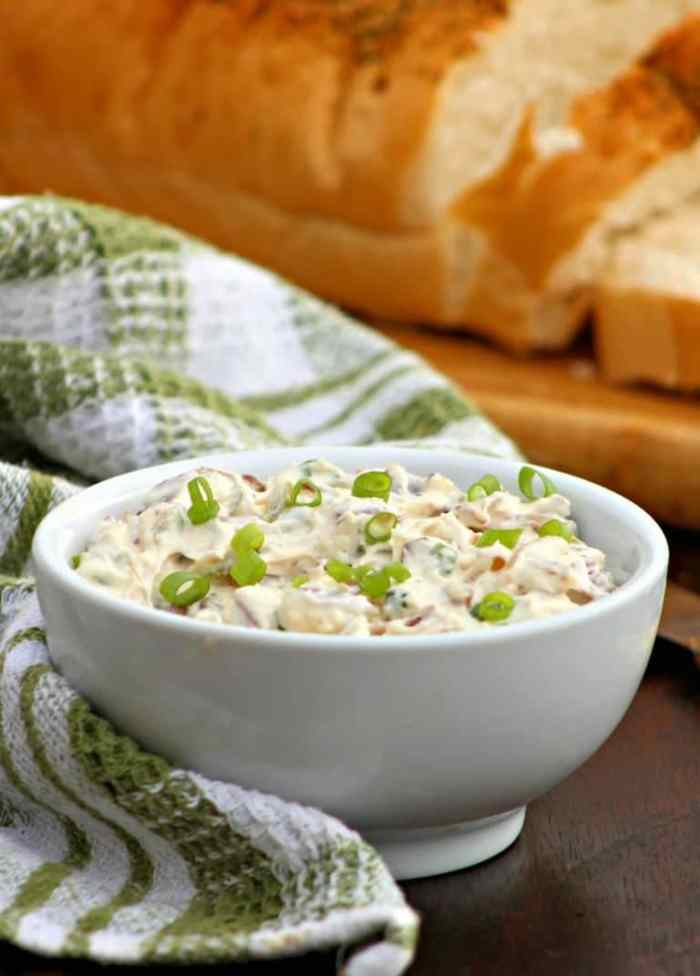 The Holidays are the time when we all bring out our cherished dips and appetizers and one of our families favorites is my deliciously creamy, slightly salty, Dried Chipped Beef Dip Recipe made with dried beef, cream cheese, sour cream, mayo, diced onions, green onions, minced jalapeño peppers,Worcestershire sauce, and Cajun Seasoning served over crusty bread or your favorite crackers it's simply to die for.