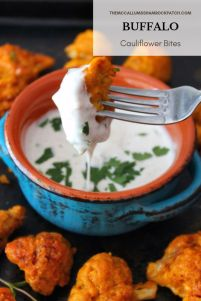 Buffalo Cauliflower Bites are one of those spicy to die for yet surprisingly healthier recipes, a wonderful combination of cauliflower coated in a deliciouslycrispy batter, then baked andtossed in a homemade Buffalo Sauce tocreate a simple and deliciousappetizer that would be perfect for vegetarian friends, impromptuget-together, or even game night.