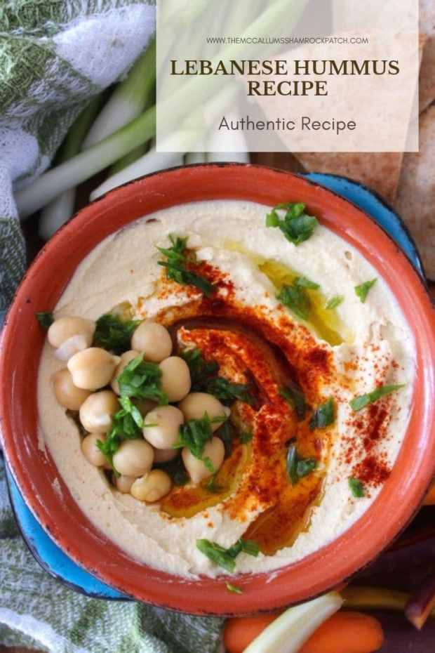 This delicious handed down Lebanese Hummus Recipe comes off without a hitch when made, it has a super creamy texture and fabulous flavor. Made from dried chickpeas, quality tahini, garlic, fresh lemon juice, paprika, extra- virgin olive oil, and fresh parsley for the best tasting Lebanese Hummus to date.