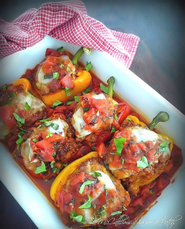 Easy Sicilian-Style Stuffed Peppers