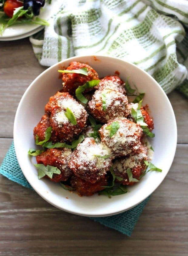 Traditional Meatballs are a deliciously tender and flavorful recipe that will have your meatball fans coming back each time for more. These meatballs are made with love out of lean ground beef, quality ground pork, breadcrumbs, Pecorino Romano cheese, garlic, Fresh Italian herbs, and then lightly fried to perfection in olive oil.
