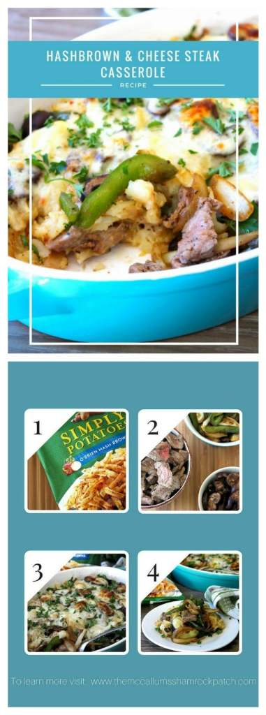 Hashbrowns and Cheese Steak Casserole #AD