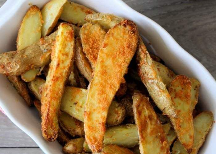 Air-fryer Parmesan Fingerling Potatoes