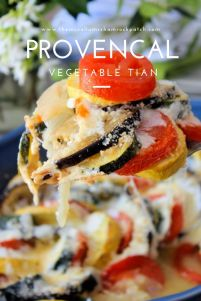 The remarkable looking Provençal Vegetable Tian is definitelya super simple showstopper you can make to impress your family and friends alike; made with organic garden fresh vegetables