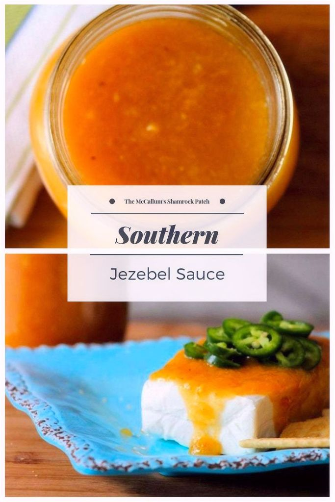 Southern Jezebel Sauce will haunt your taste buds with fiery sweetness. It's hot, yet sweet, made with the finest pineapple preserves, apricot preserves, apple jelly, horseradish, prepared mustard with a hint of lemon juice is perfect as a glaze for ham, a grilling sauce, condiment, or served as an appetizer.  This tasty sauce hails from the South, such as the Mississippi Delta, Florida, and even Louisiana. It's a Southern thing.