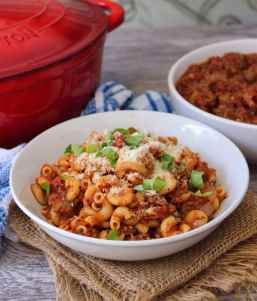 This flavorful, delicious old-fashioned Southern Meat Sauce has been floating around for years; thick, rich, hearty, and filled to the brim with sweet organic tomatoes, peppers, and onions that lends the perfect layer of flavor to any pasta you choose.