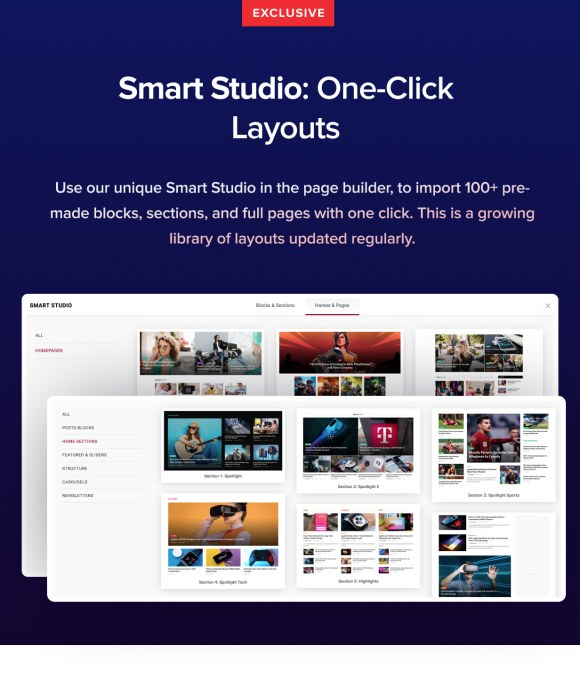 One-click Premade Layouts
