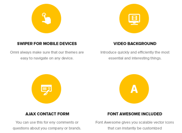 Swiper for Mobile Devices, Video Background, Ajax Contact Form, Font Awesome Included