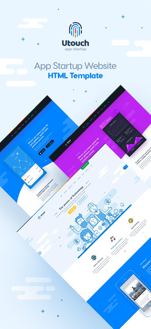 App Startup Website HTML Template