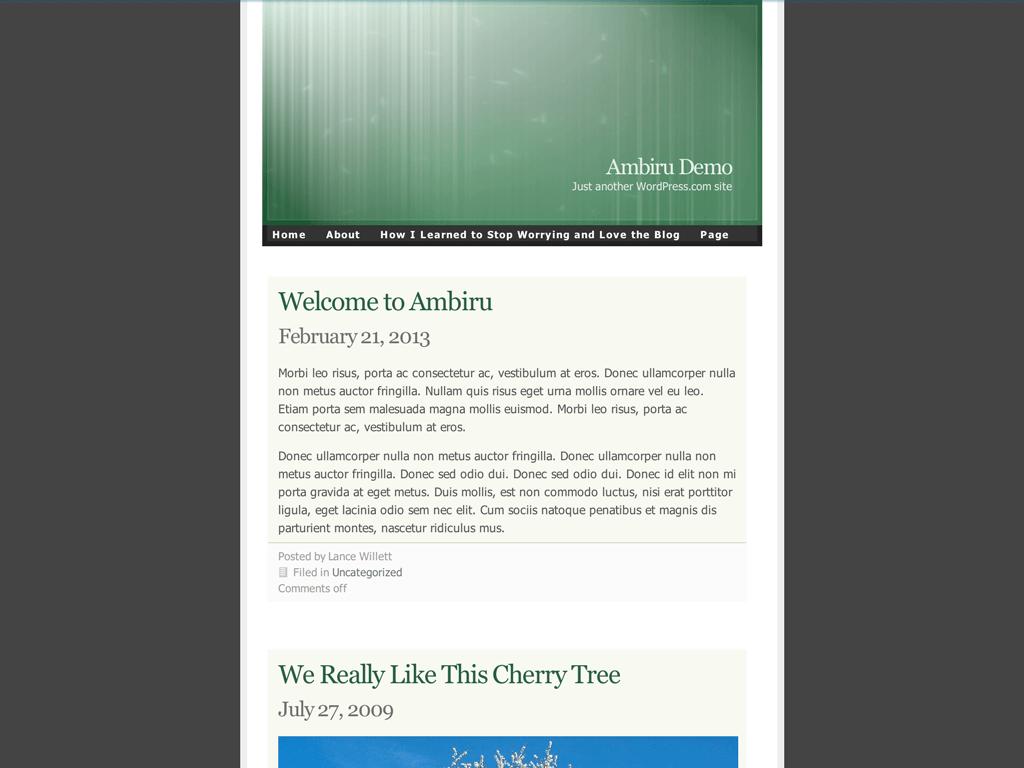 Screenshot of the Ambiru theme