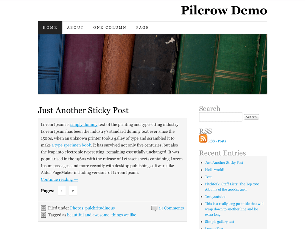 Pilcrow WordPress Theme