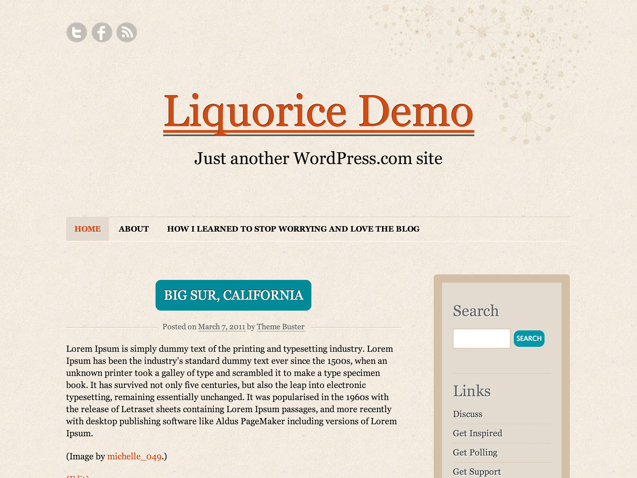 Liquorice WordPress Theme