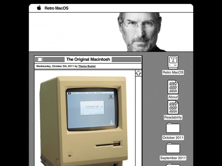 Screenshot of the Retro MacOS theme