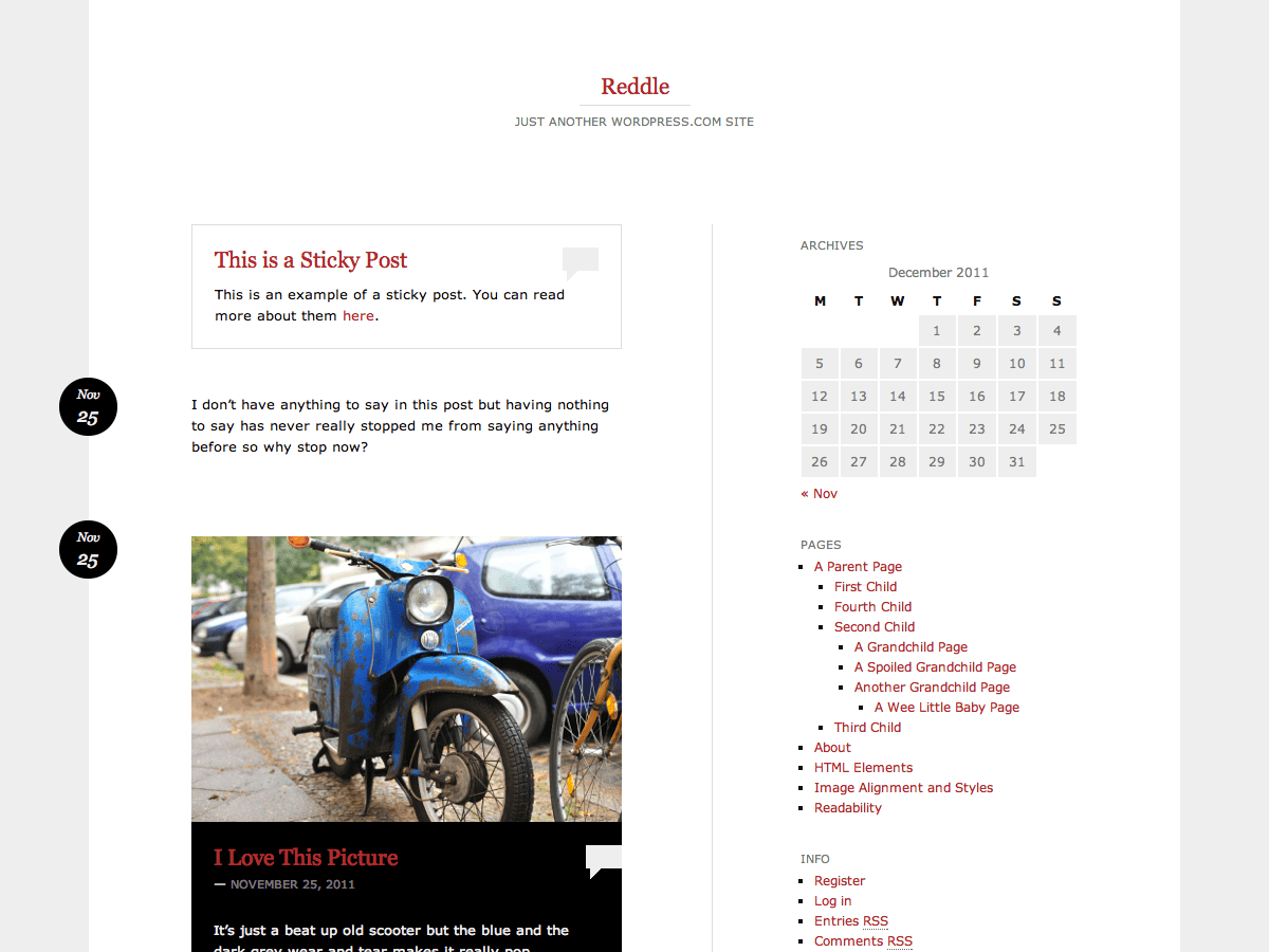 Reddle WordPress Theme