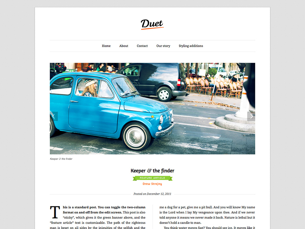 Duet WordPress Theme
