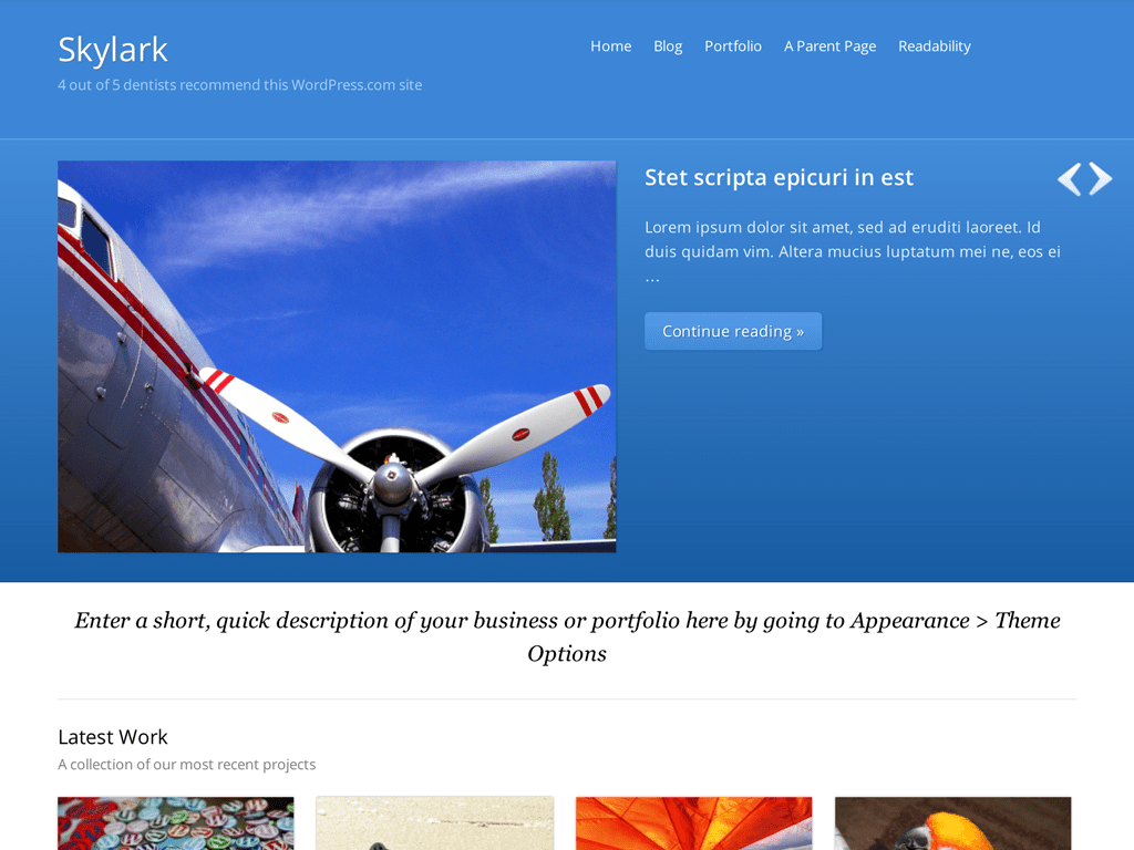 Skylark WordPress Theme