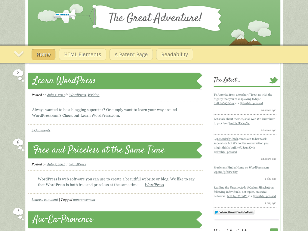 The Great Adventure WordPress Theme