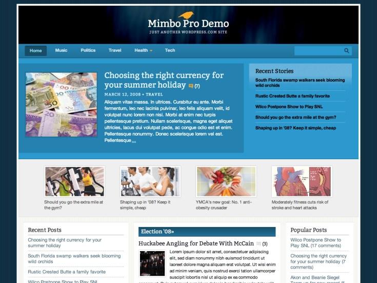 Screenshot of the Mimbo Pro theme