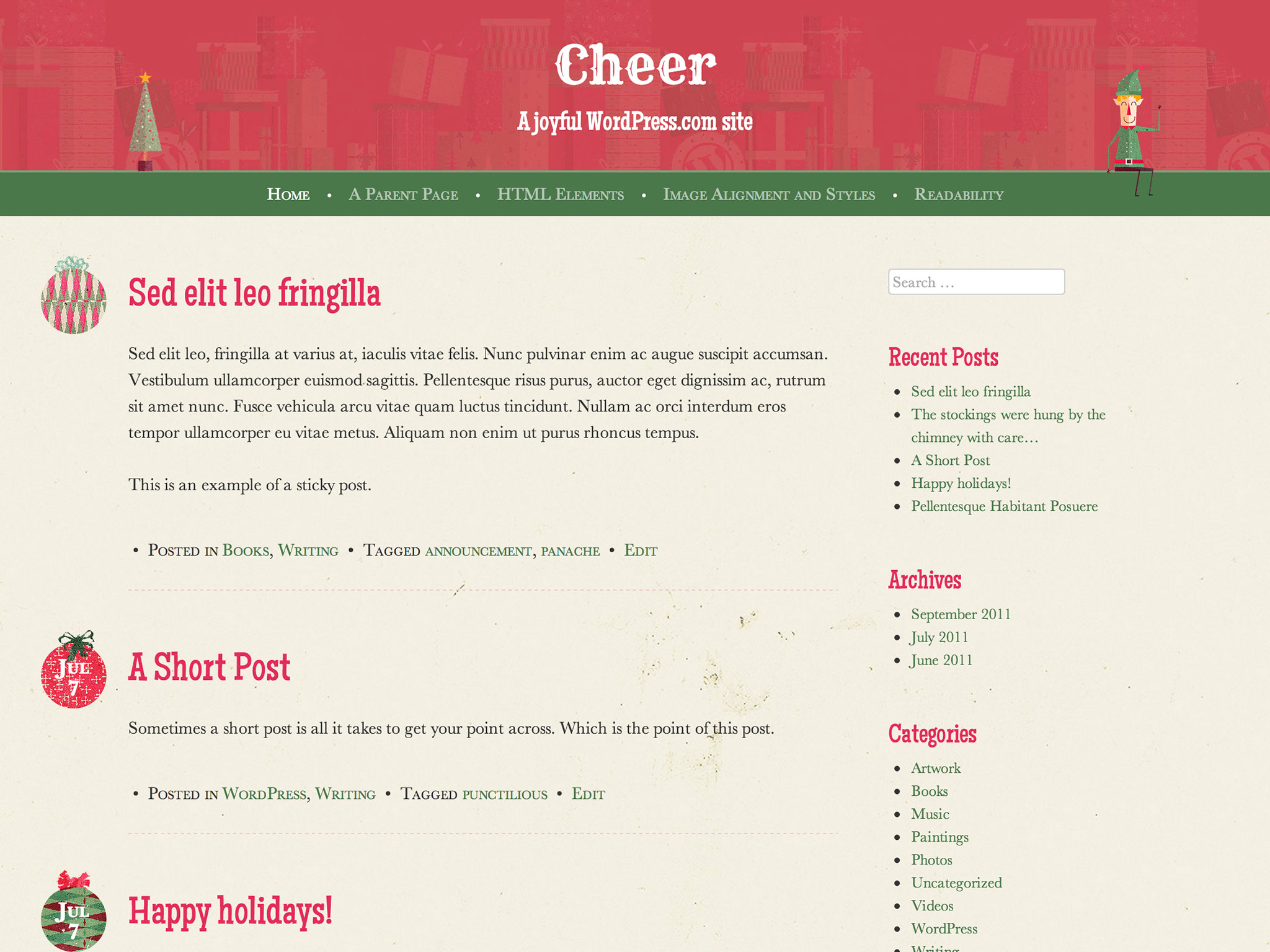 Cheer WordPress Theme