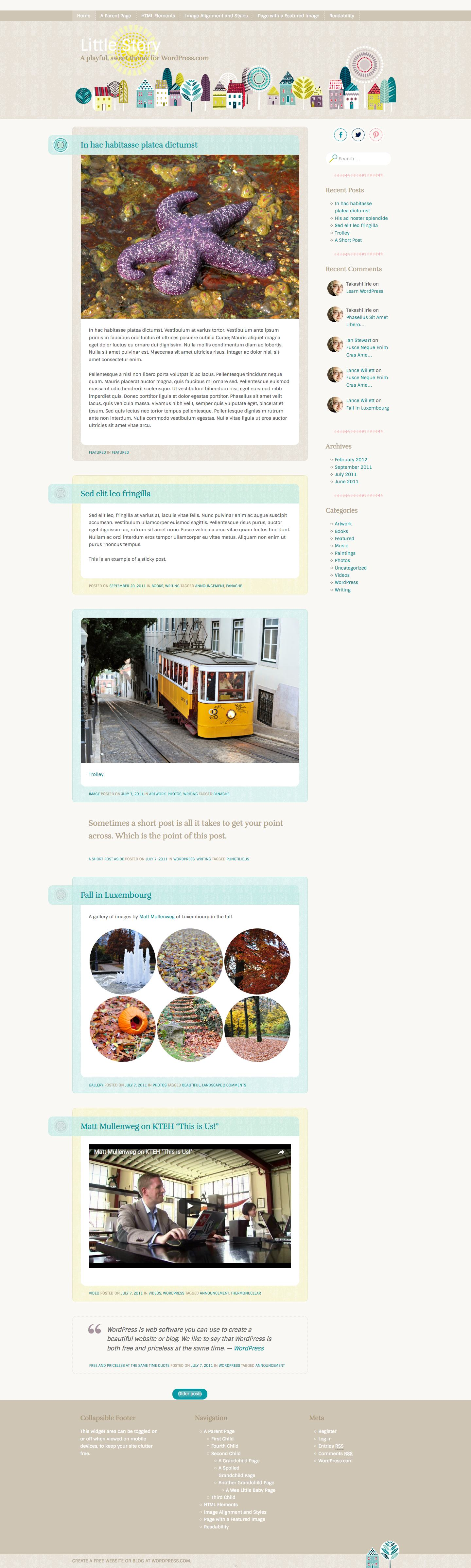 Little Story WordPress Theme