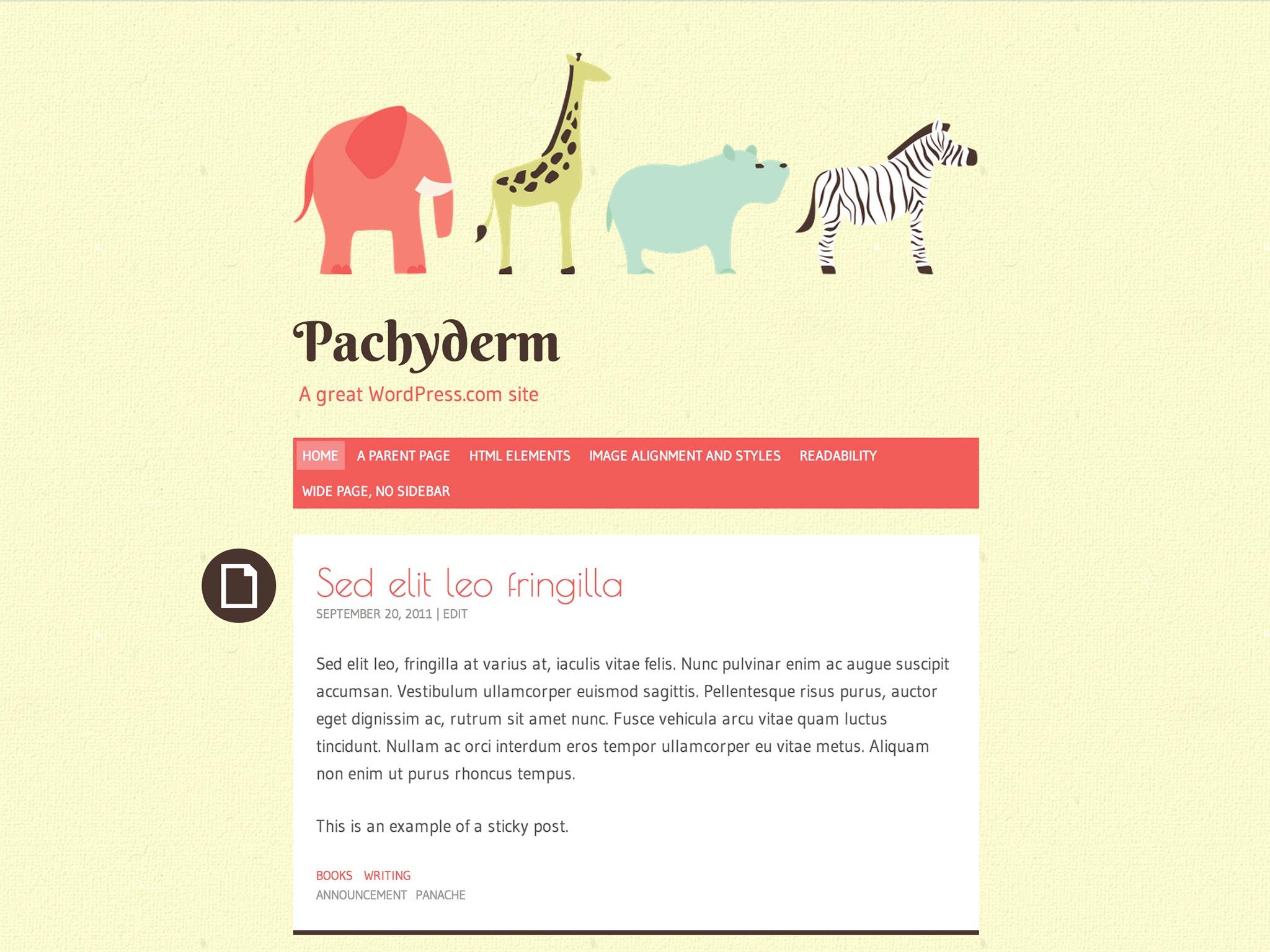 Pachyderm WordPress Theme