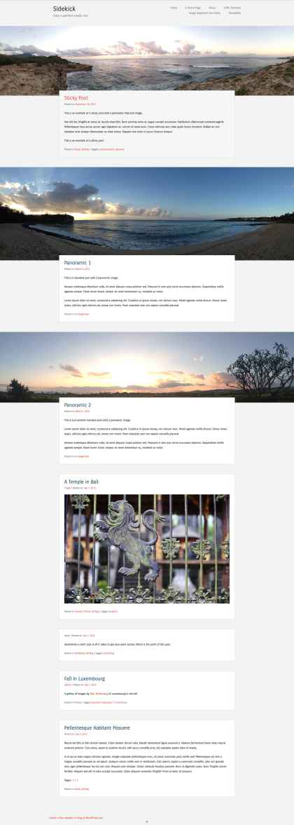 Sidekick WordPress Theme