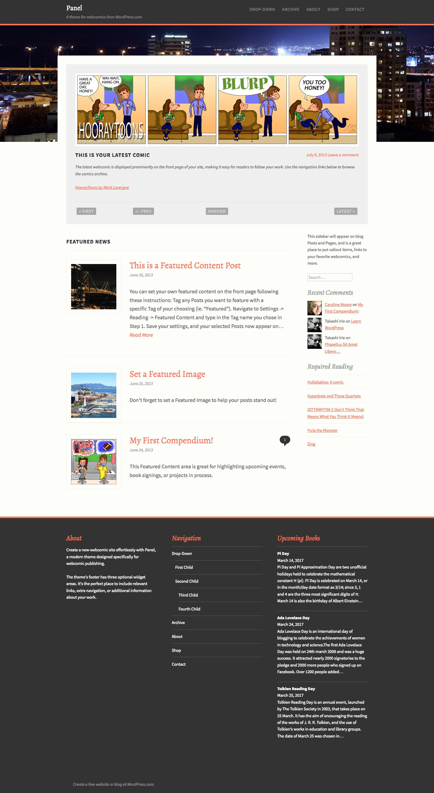 Panel WordPress Theme