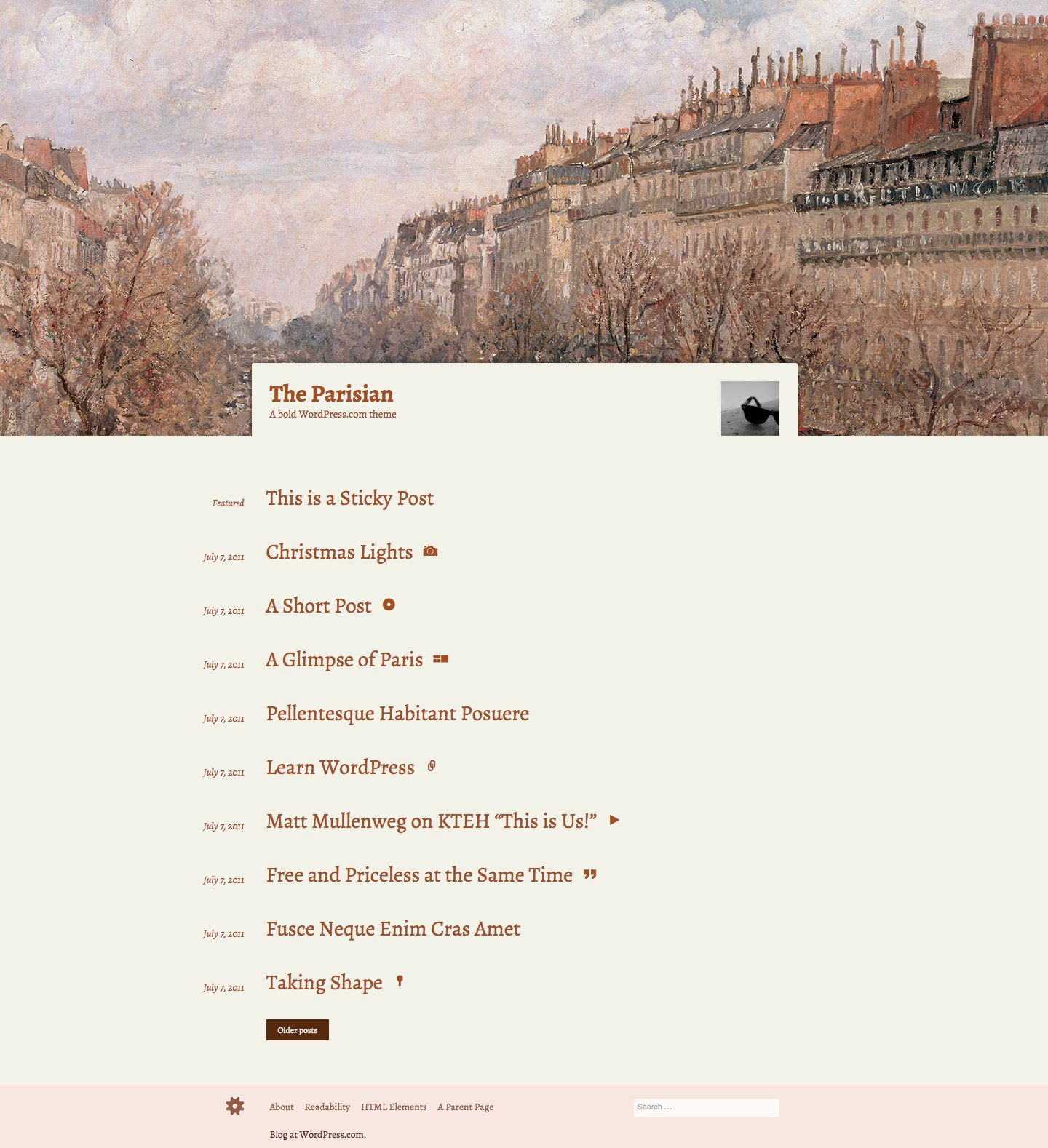 The Parisian WordPress Theme