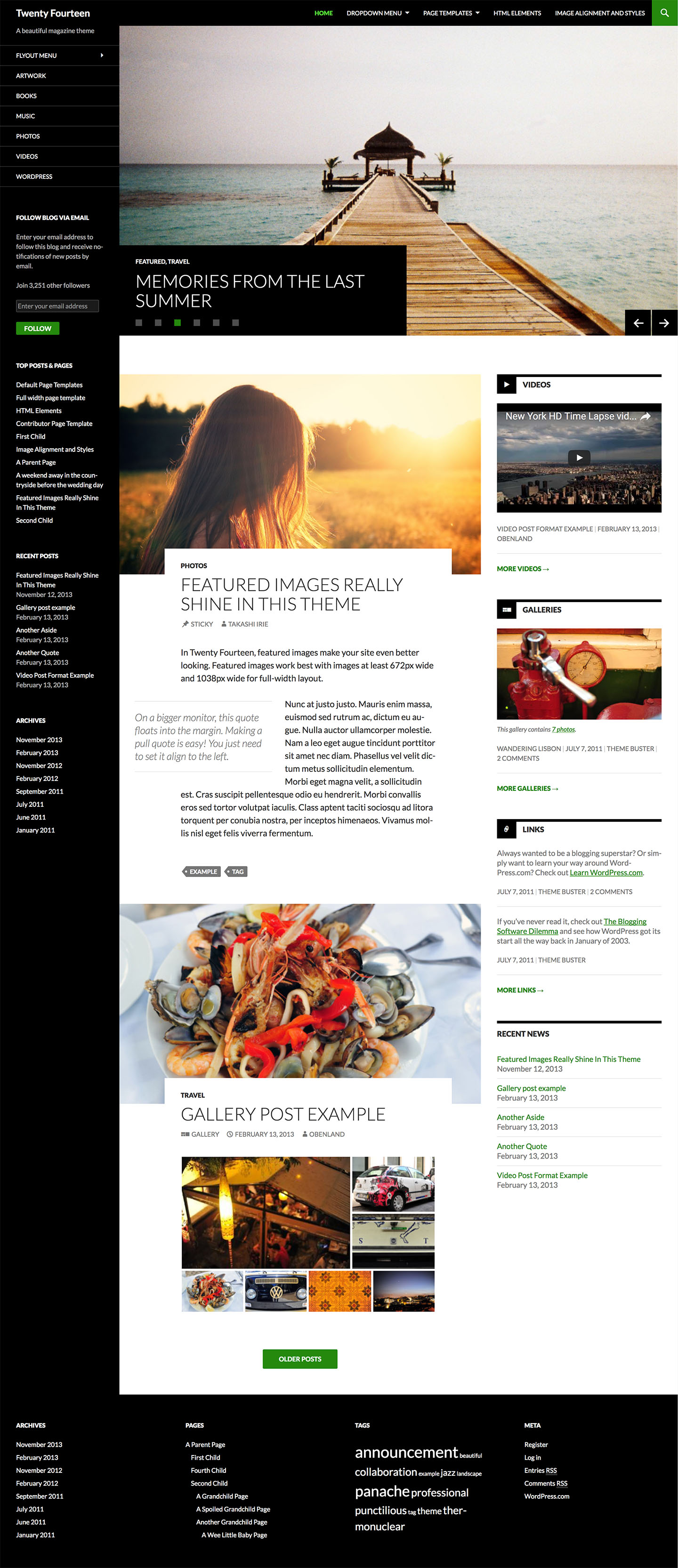 Twenty Fourteen WordPress Theme