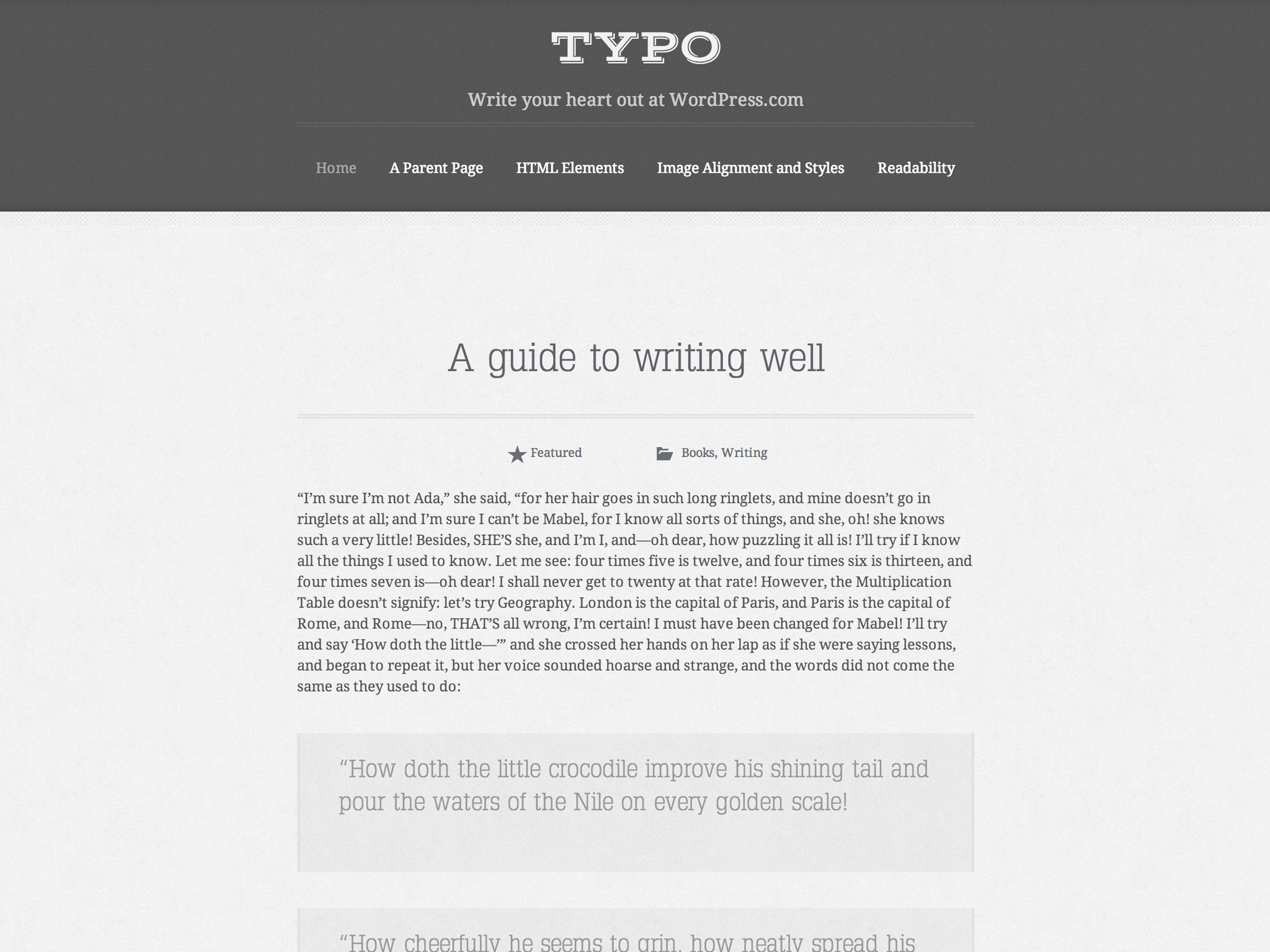 Typo WordPress Theme