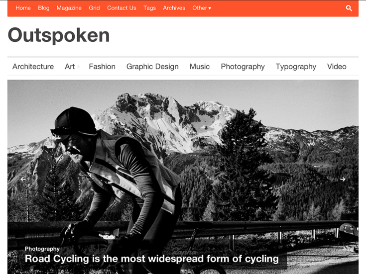 Screenshot of the Outspoken theme