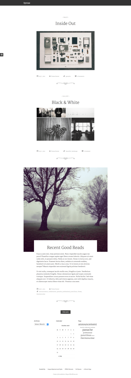 Syntax WordPress Theme