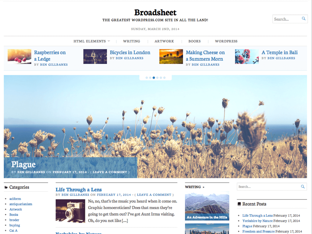 Broadsheet WordPress Theme