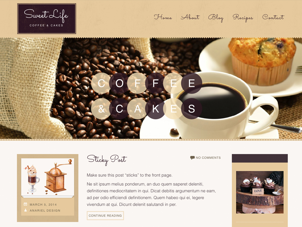 Sweet Life WordPress Theme