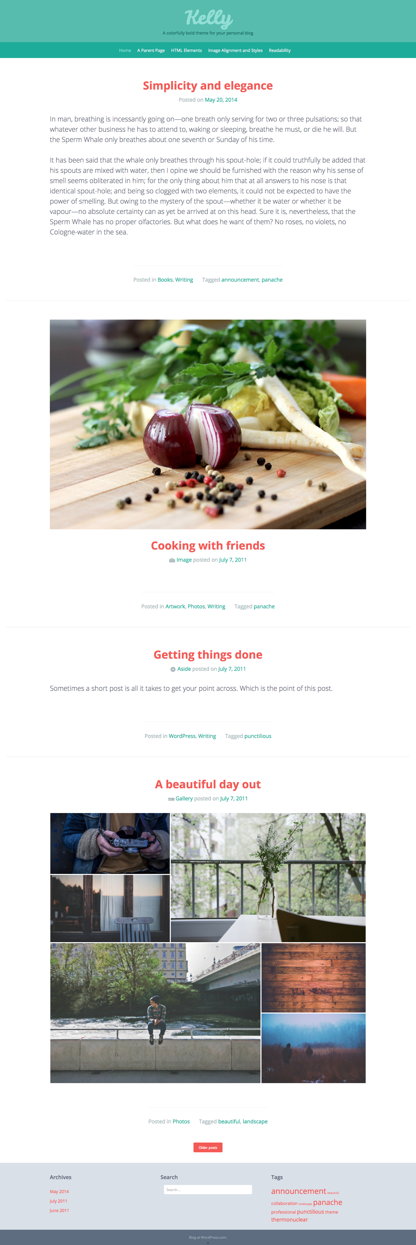 Kelly WordPress Theme