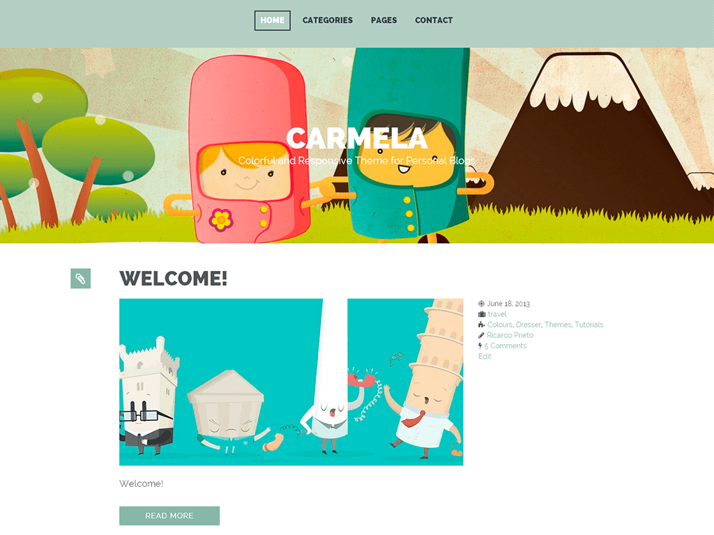 carmela WordPress Theme