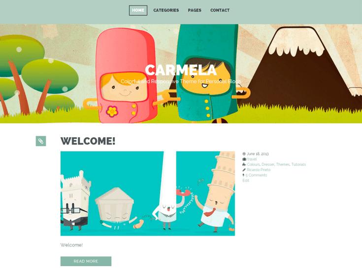 Screenshot of the Carmela theme