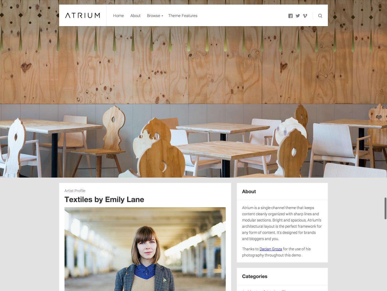 Screenshot of the Atrium theme