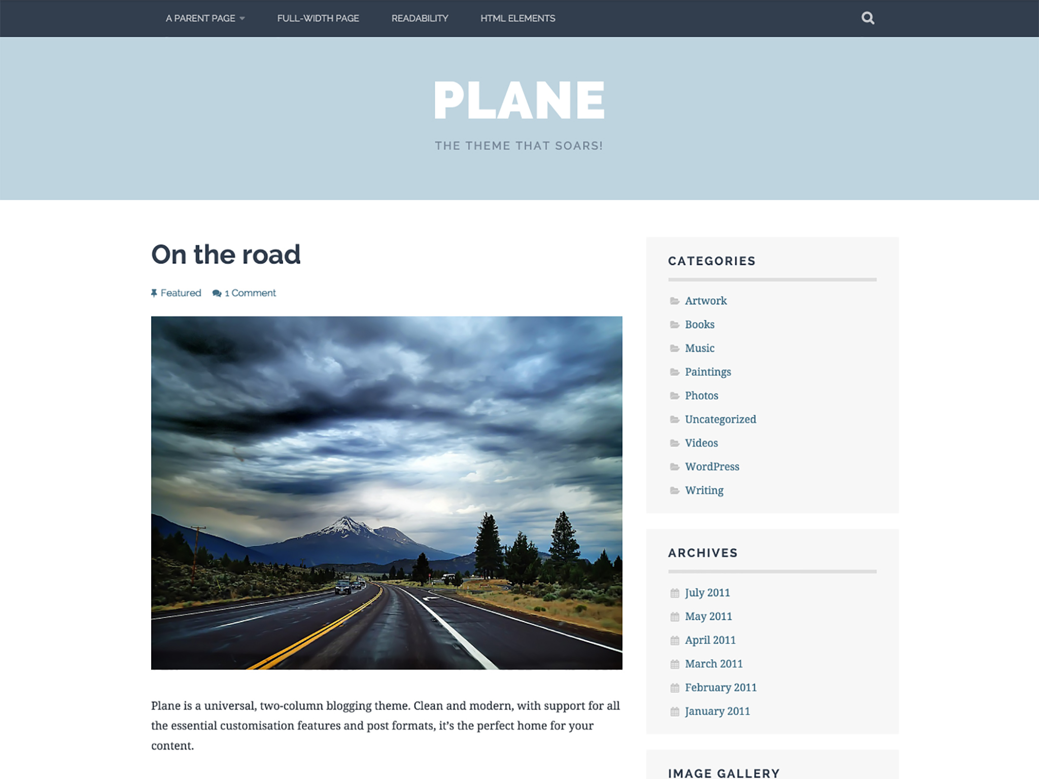 Plane WordPress Theme
