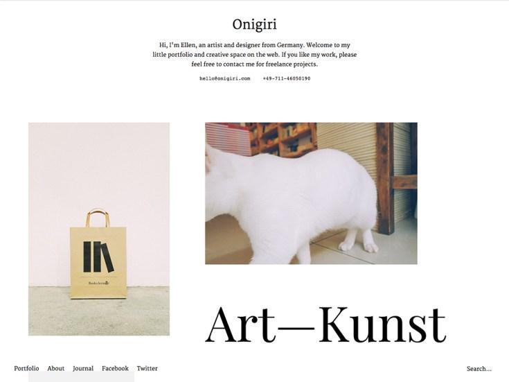 Screenshot of the Onigiri theme