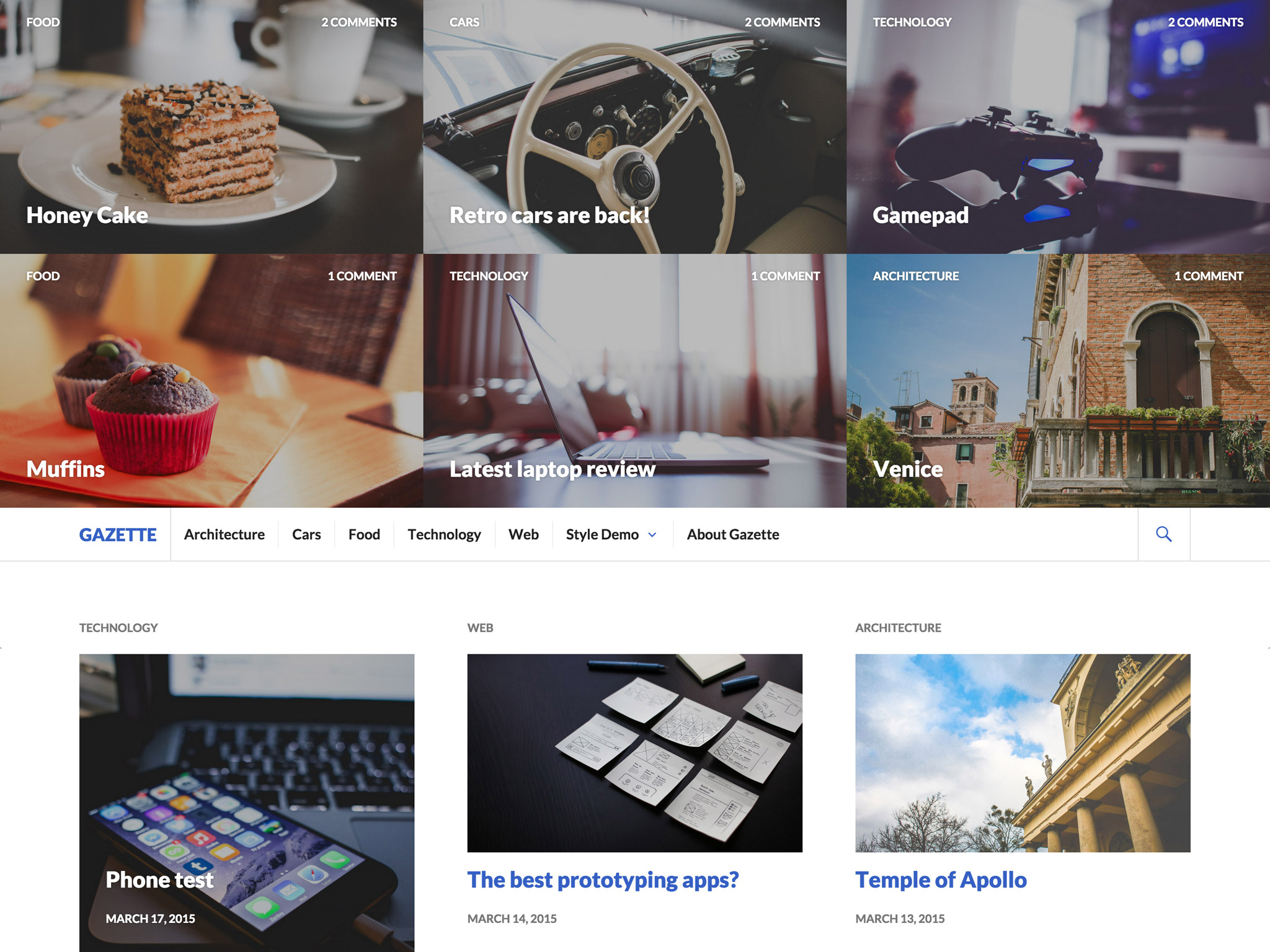 Gazette WordPress Theme