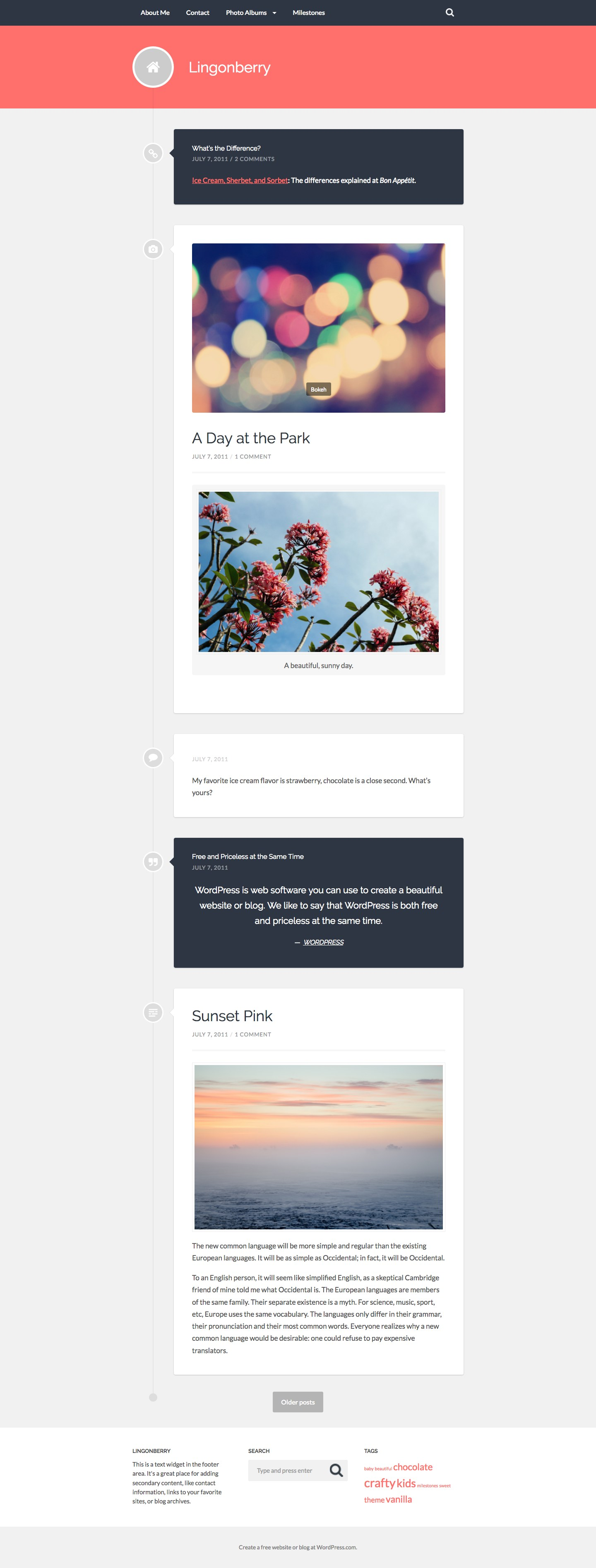 Lingonberry WordPress Theme