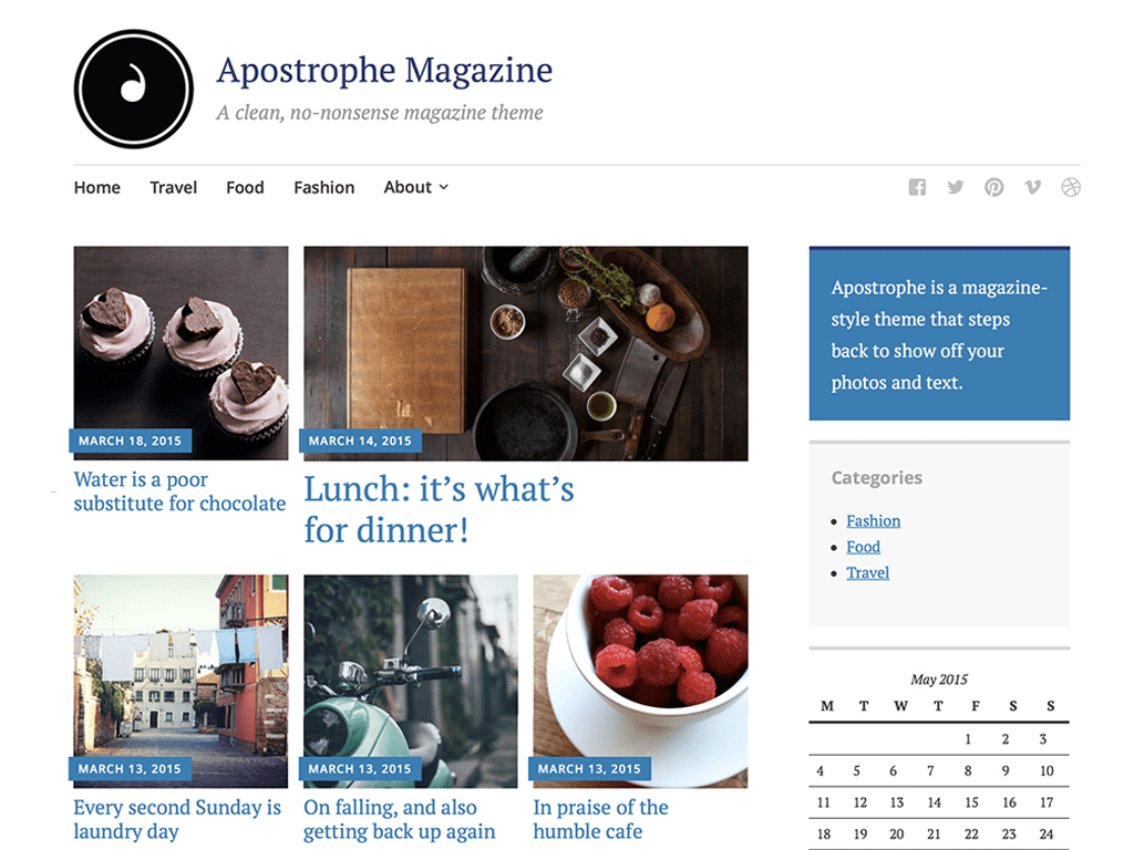 Apostrophe WordPress Theme