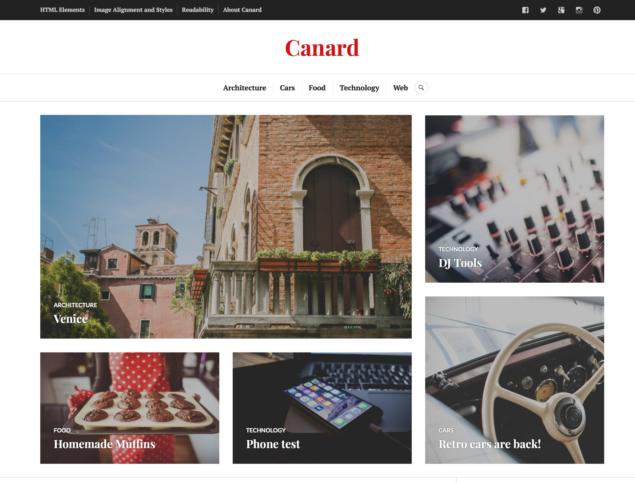 Canard WordPress Theme