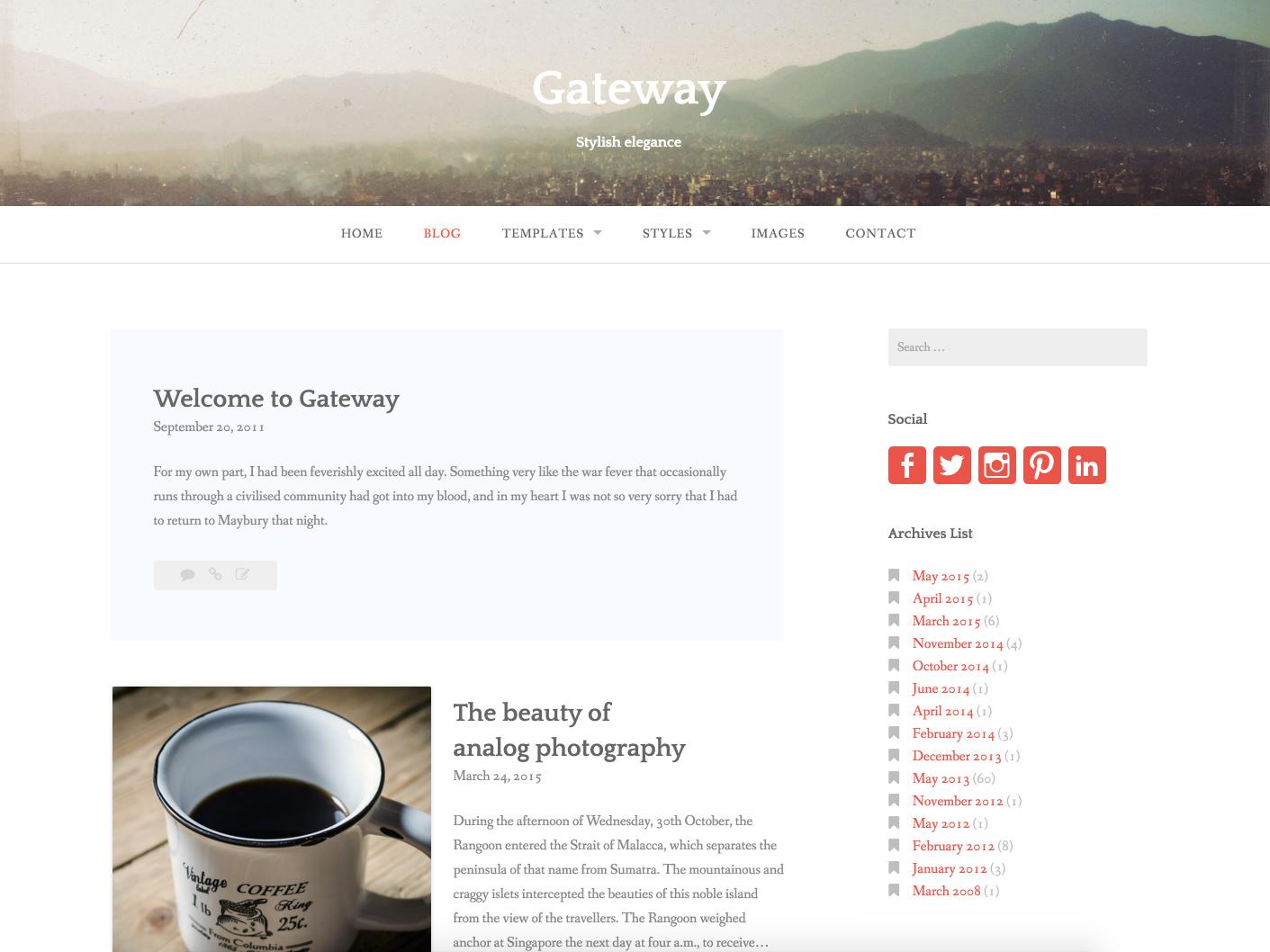 Gateway WordPress Theme