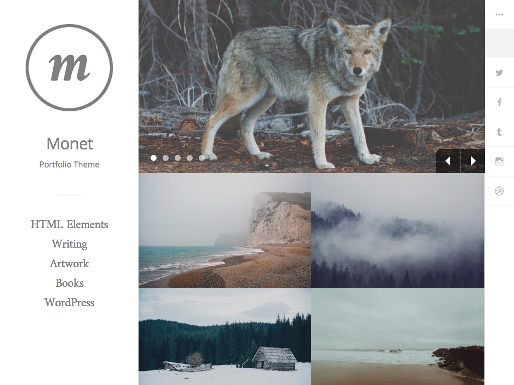Monet WordPress Theme