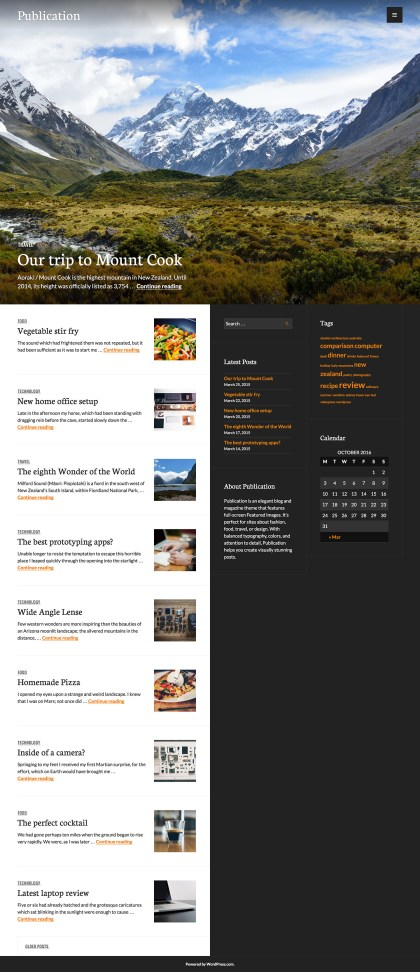 Publication WordPress Theme