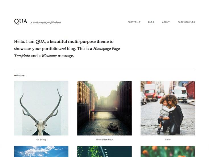 Screenshot of the Qua theme