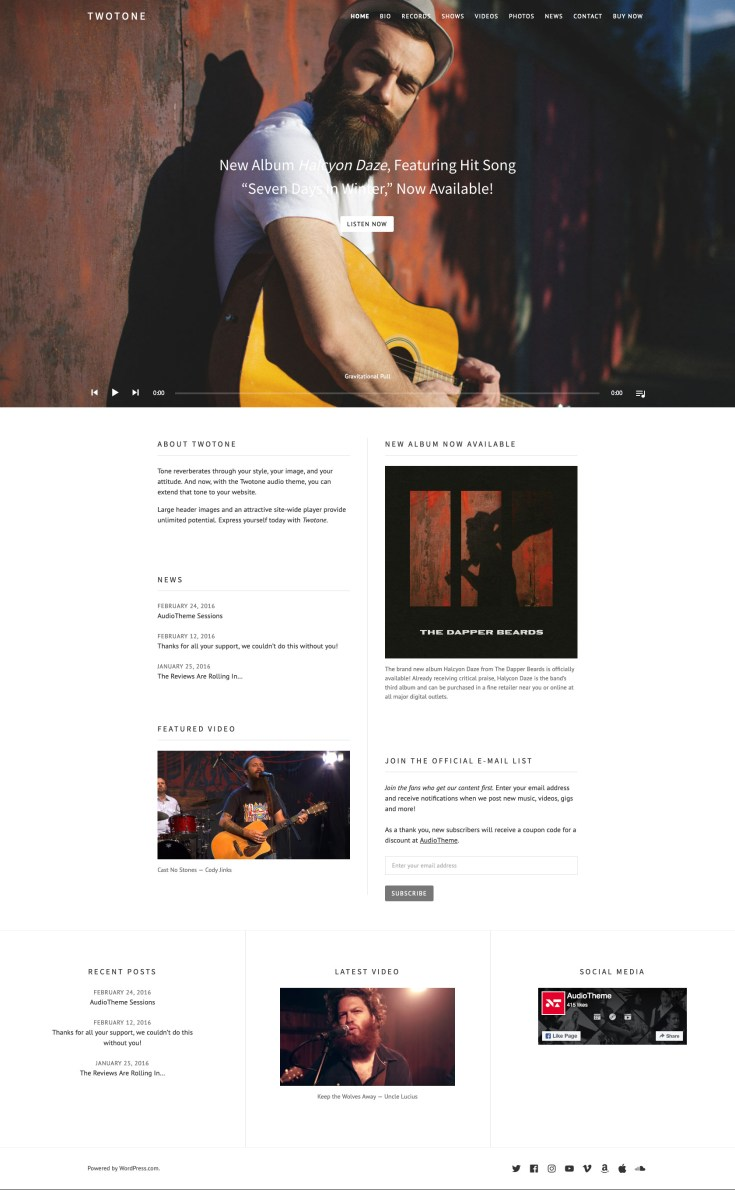 Screenshot of the Twotone theme