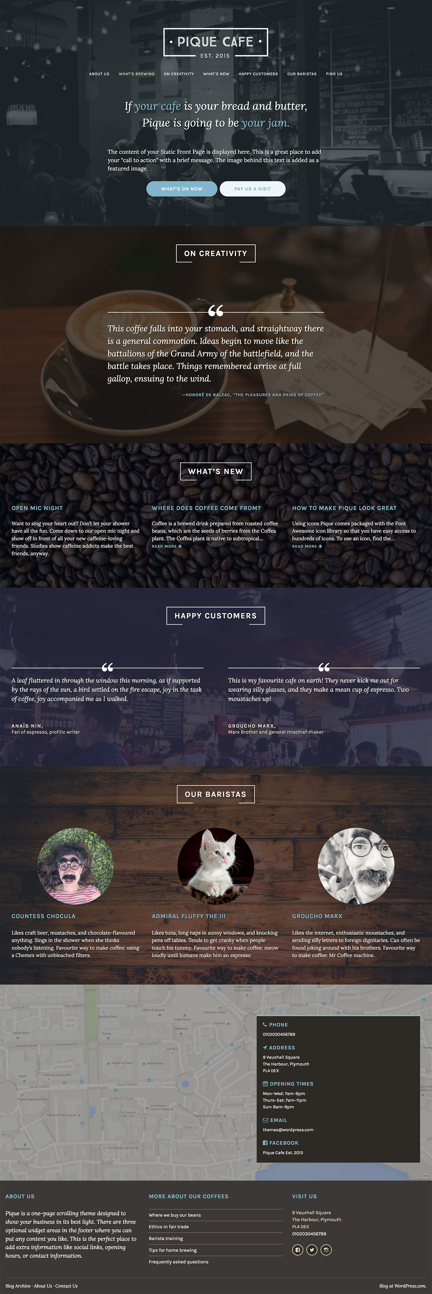 Pique WordPress Theme